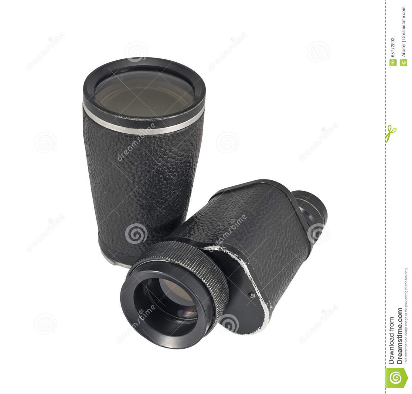 Old monocular with additional lens