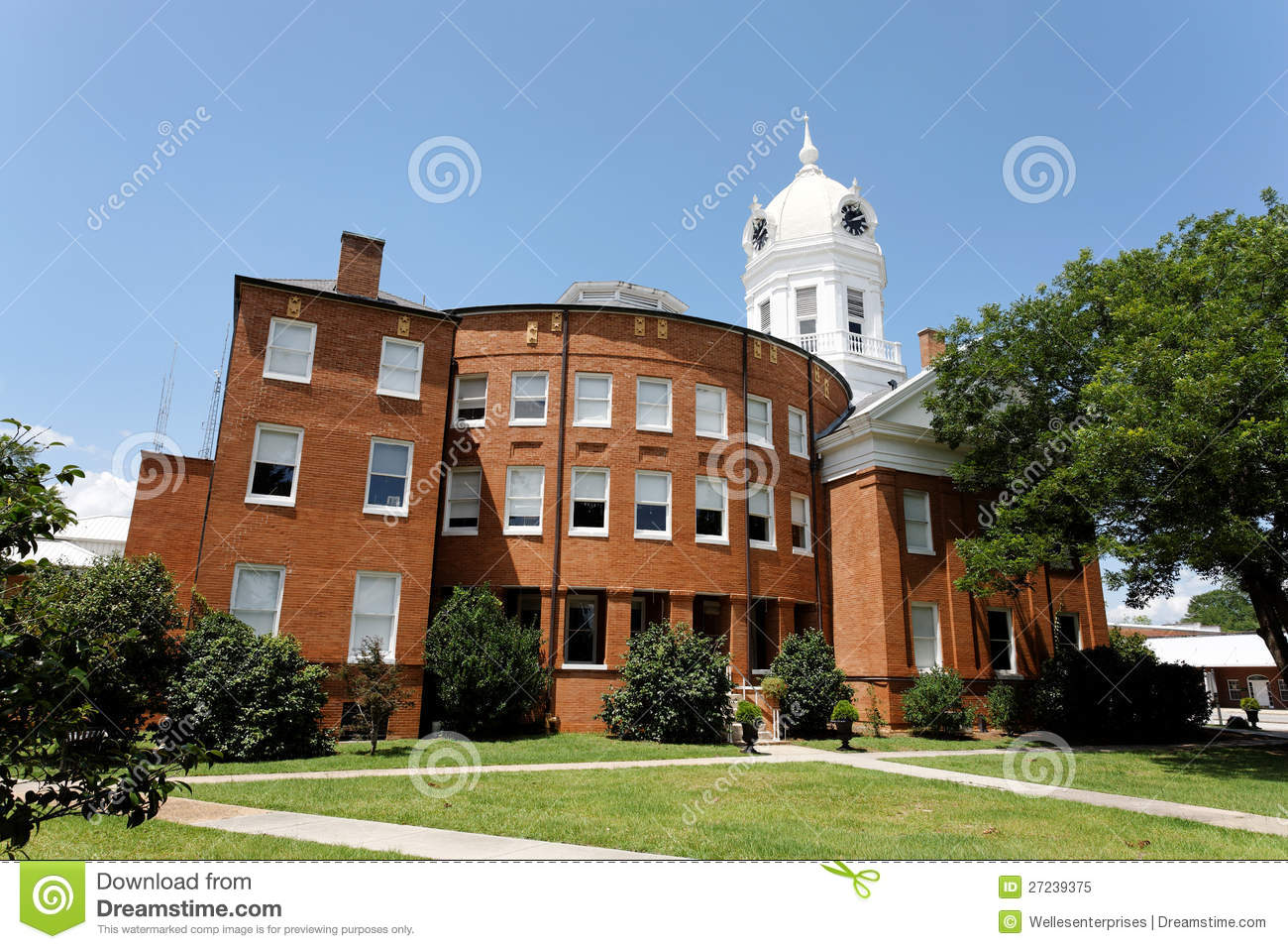 Old Monroe County Courthouse Stock Image - Image of