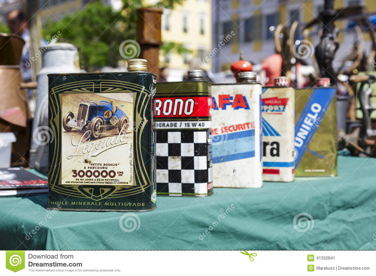 Old motor oil cans for sale in nice france editorial for Sales on motor oil