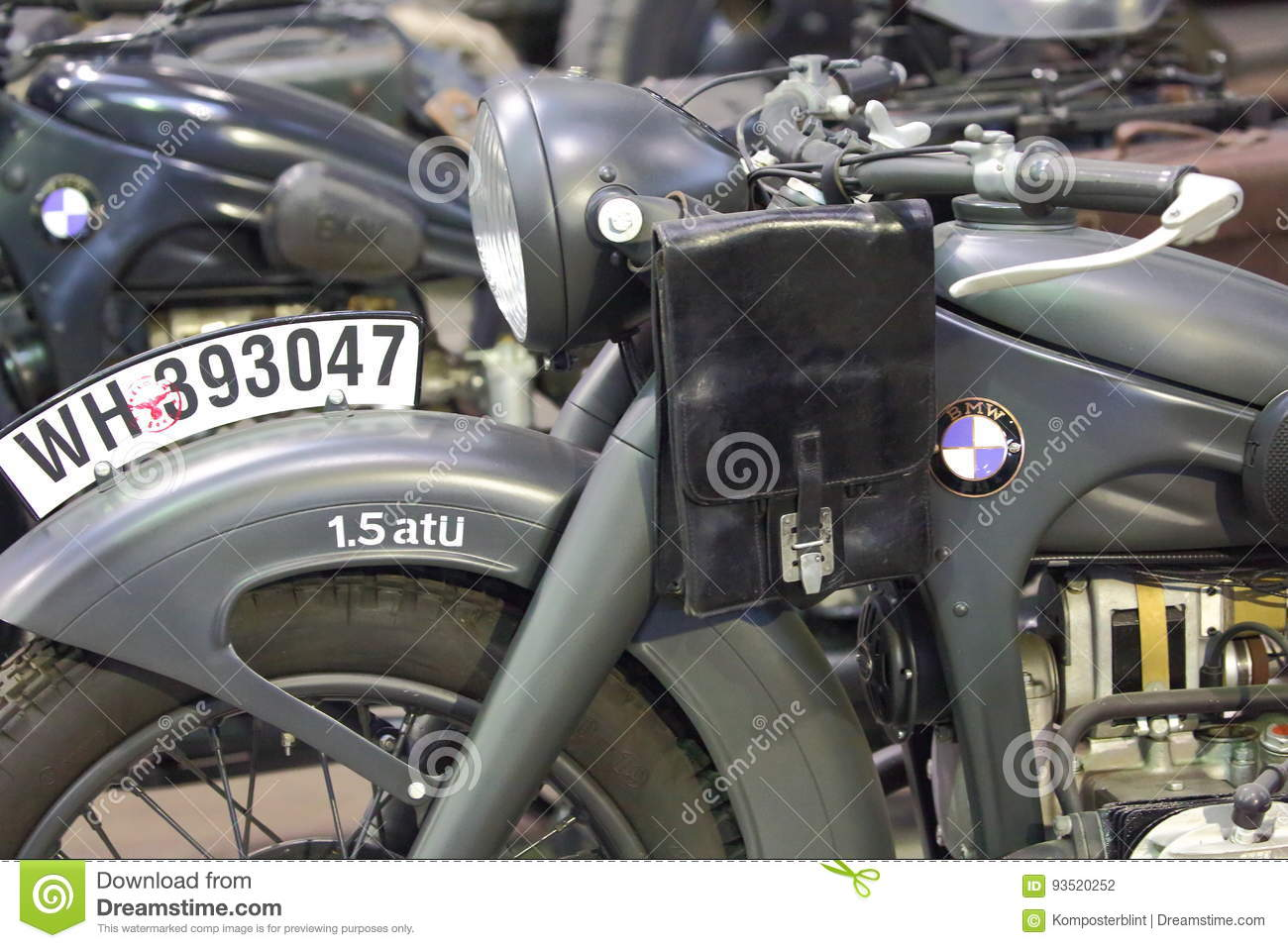 Old Motorcycle Bmw Closeup Editorial Photography Image Of Company 93520252