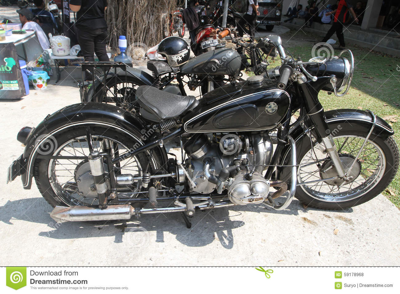 Old motorcycles editorial stock photo. Image of central - 59178968
