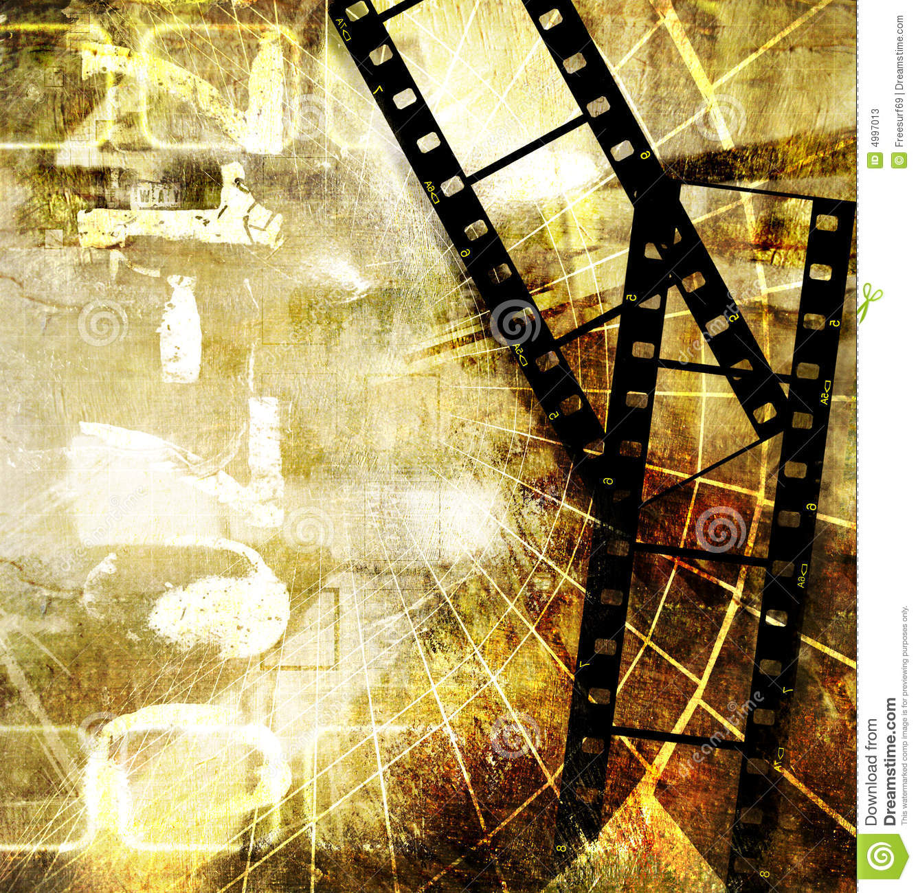 Old Movie Background Stock Photos - Image: 4997013
