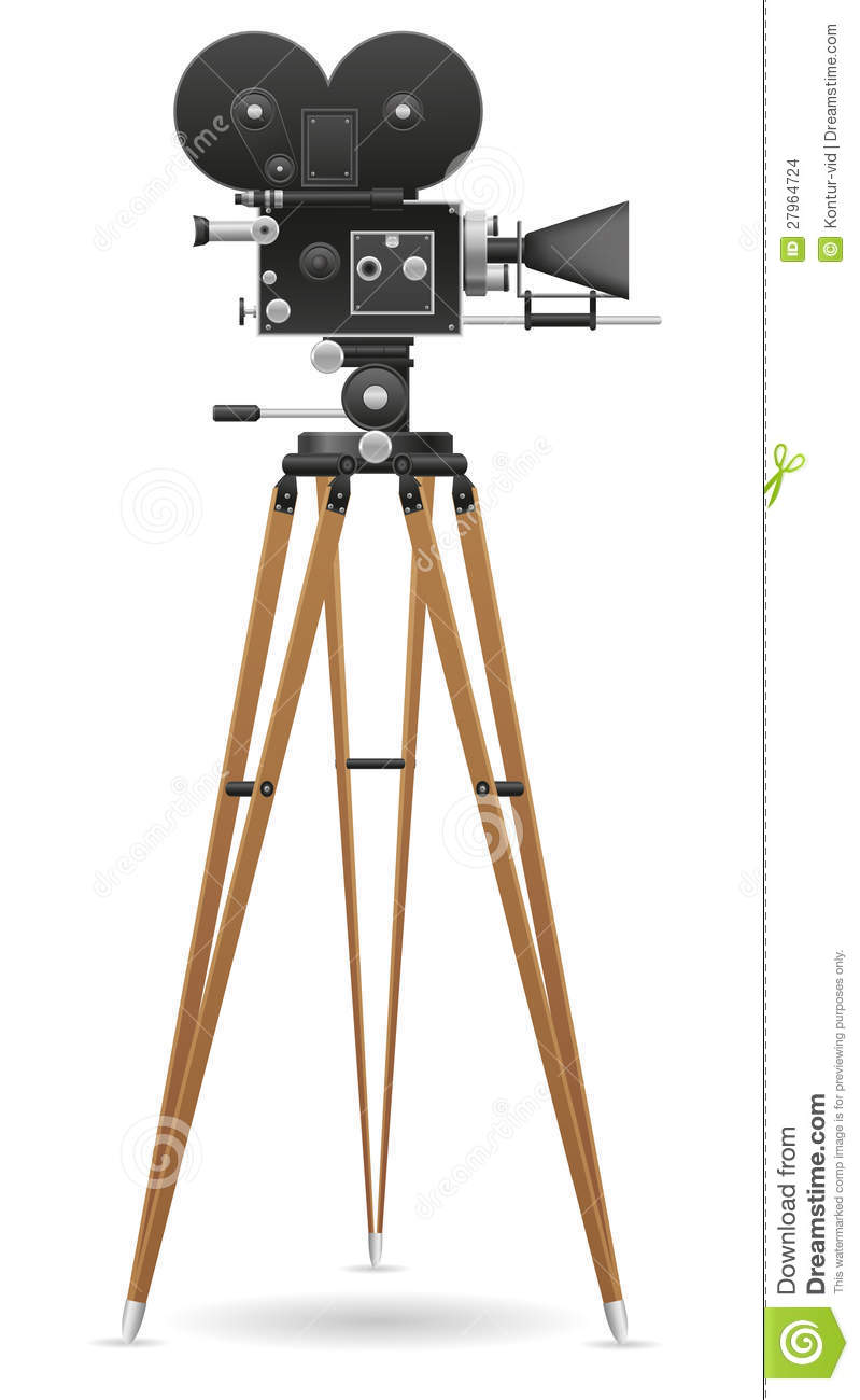 old movie camera vector illustration stock images