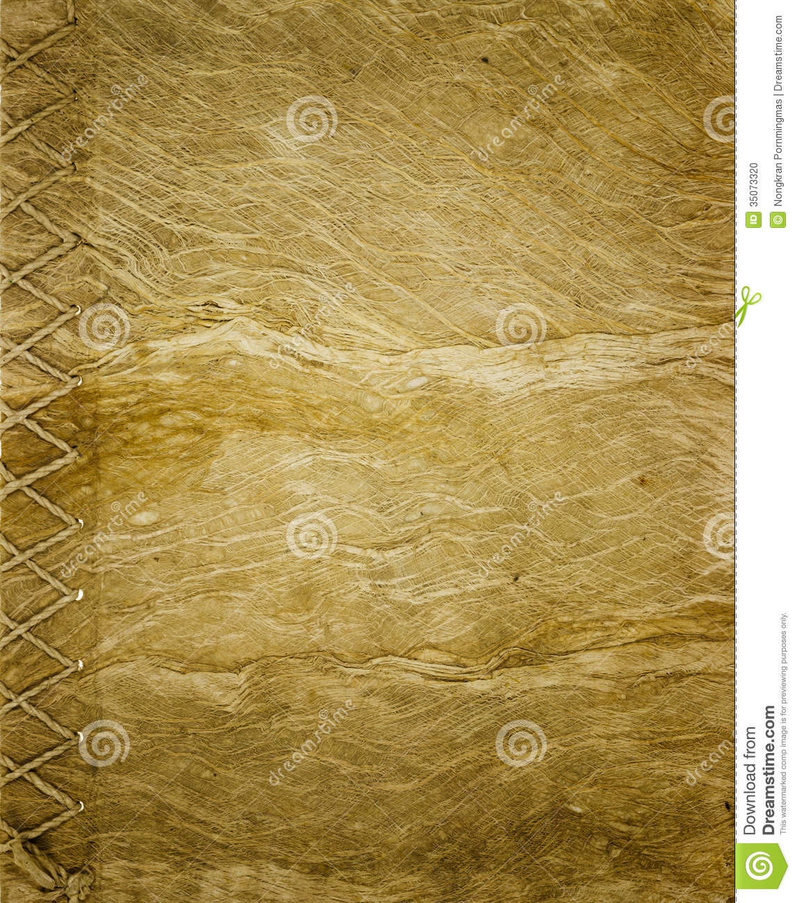 Book Covers Background : Old mulberry paper stock photo image of brown