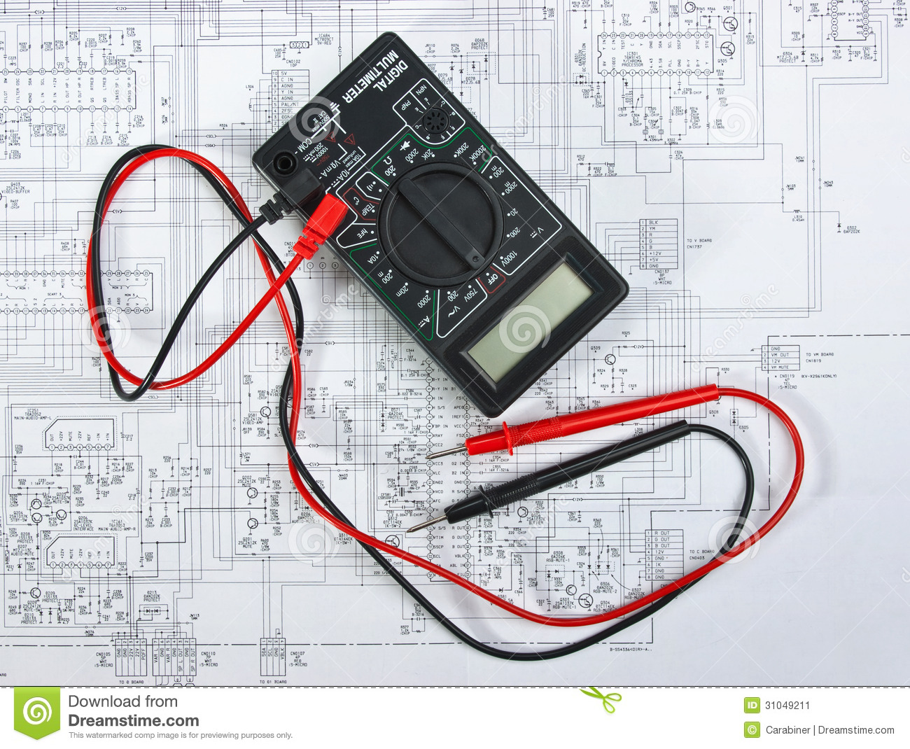 Old Multimeter Stock Image  Image Of Chip  Pattern