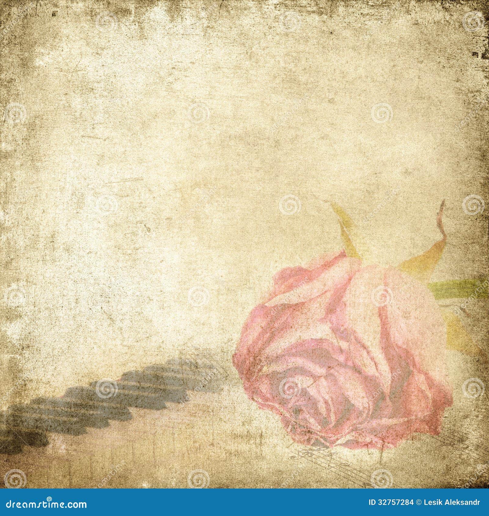 Vintage Music Backgrounds Old-music-background-rose- ...
