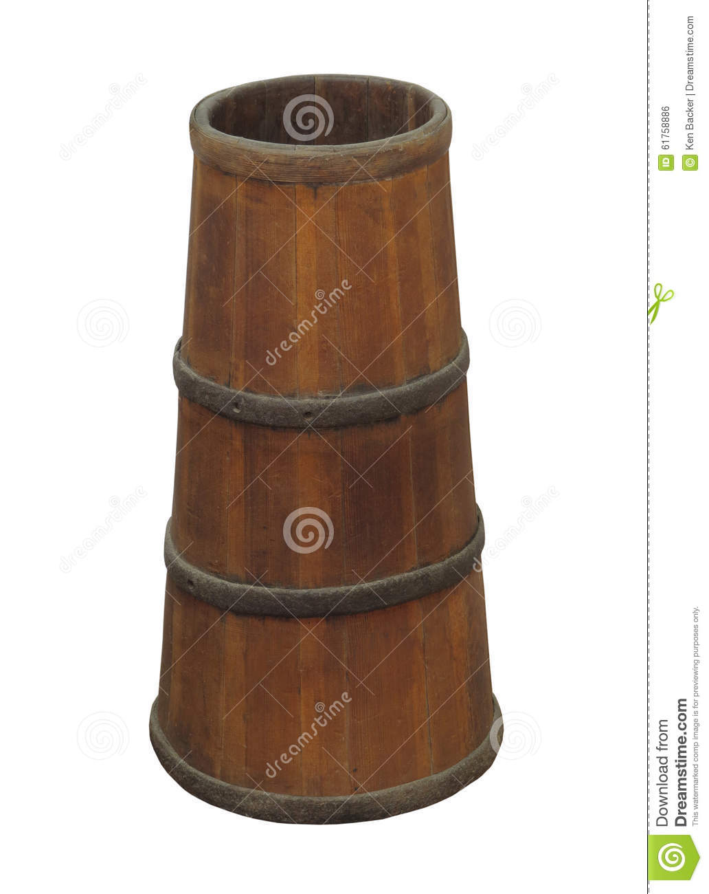 Old Narrow Wooden Barrel Isolated Stock Photo Image Of Barrels