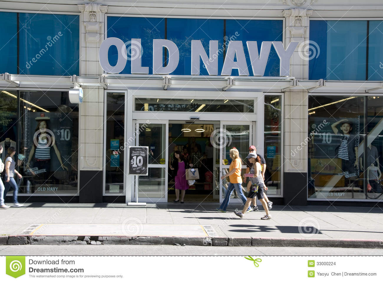 An Old Navy clothing store is seen in Springfield, Virginia, October 23, 2014. | SAUL LOEB via Getty Images