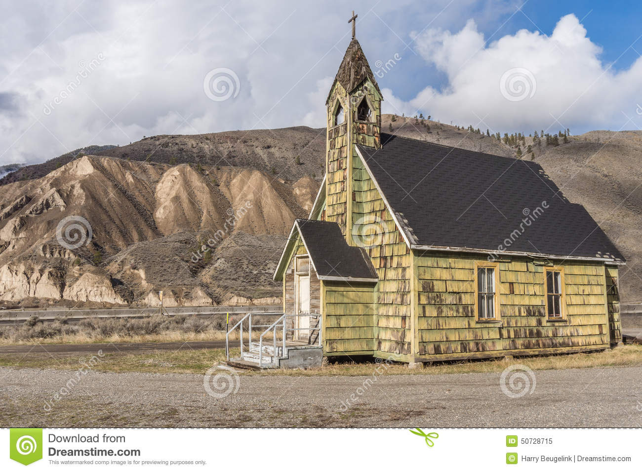 Old Neglected Country Church near Spences Bridge