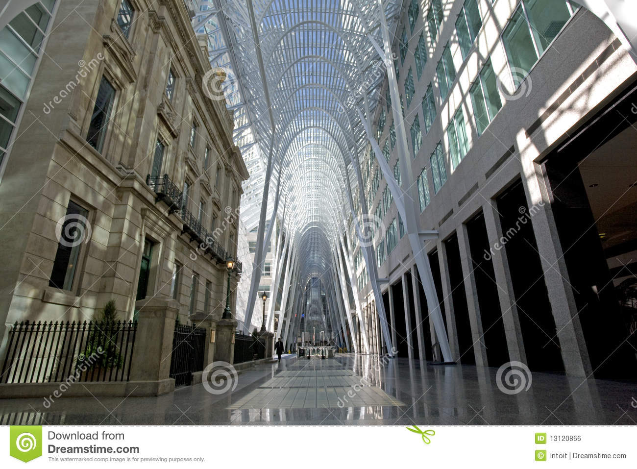 Old And New Architecture BCE Place Royalty Free Stock
