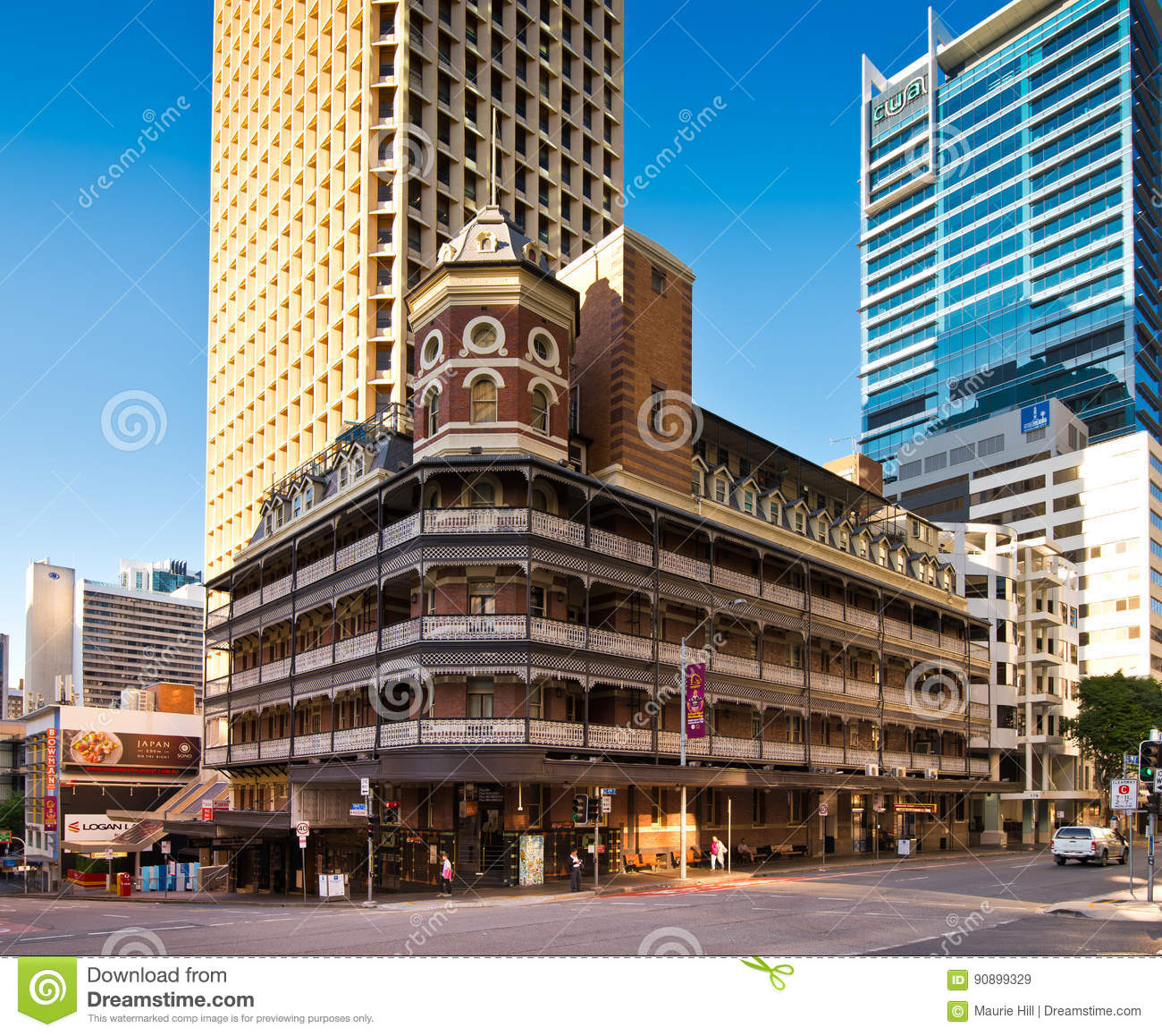 Private Home Queensland Australia: Old And New Buildings In Brisbane Editorial Stock Image