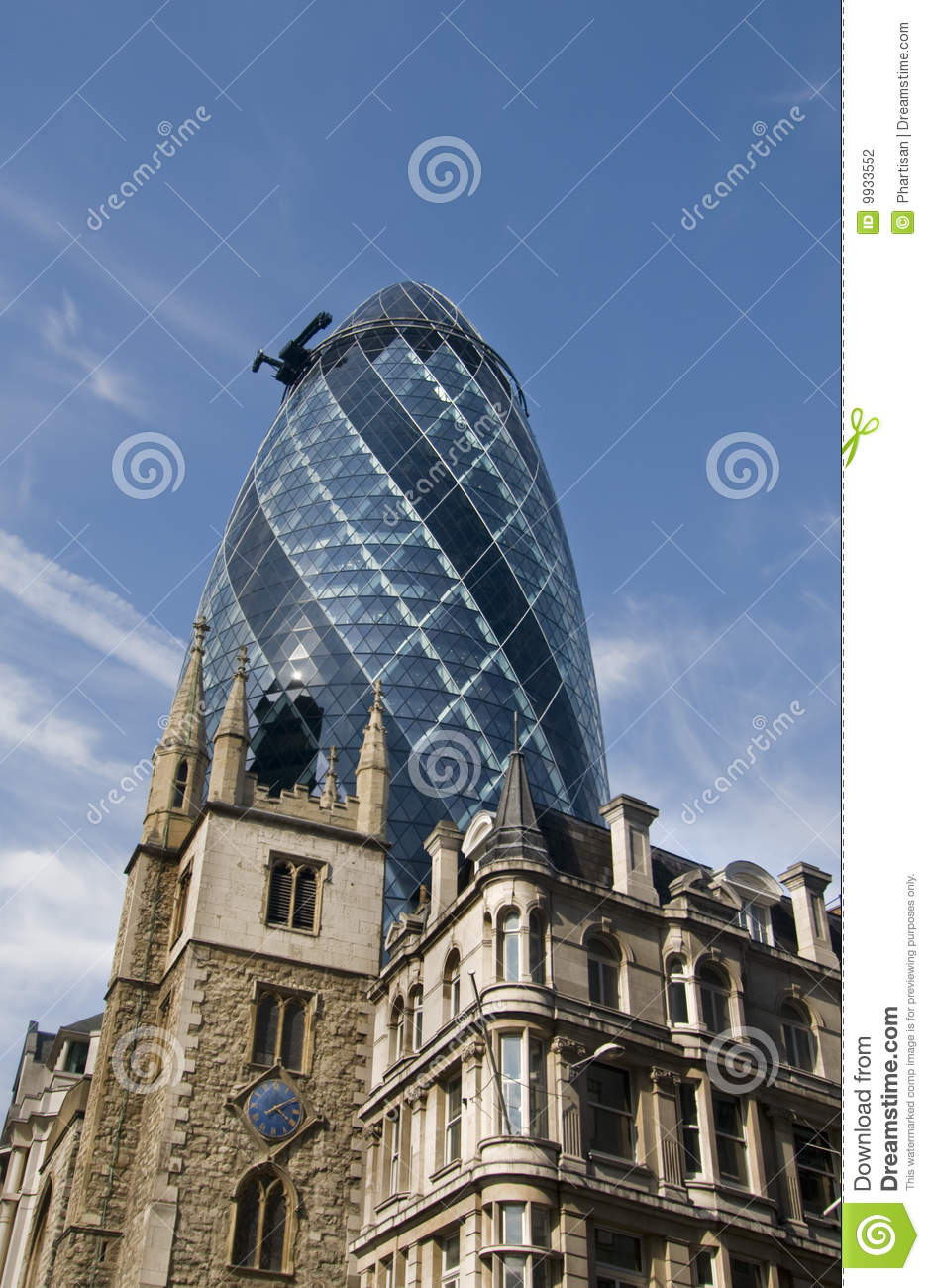 Old And New Buildings In City Of London Stock Photography Image