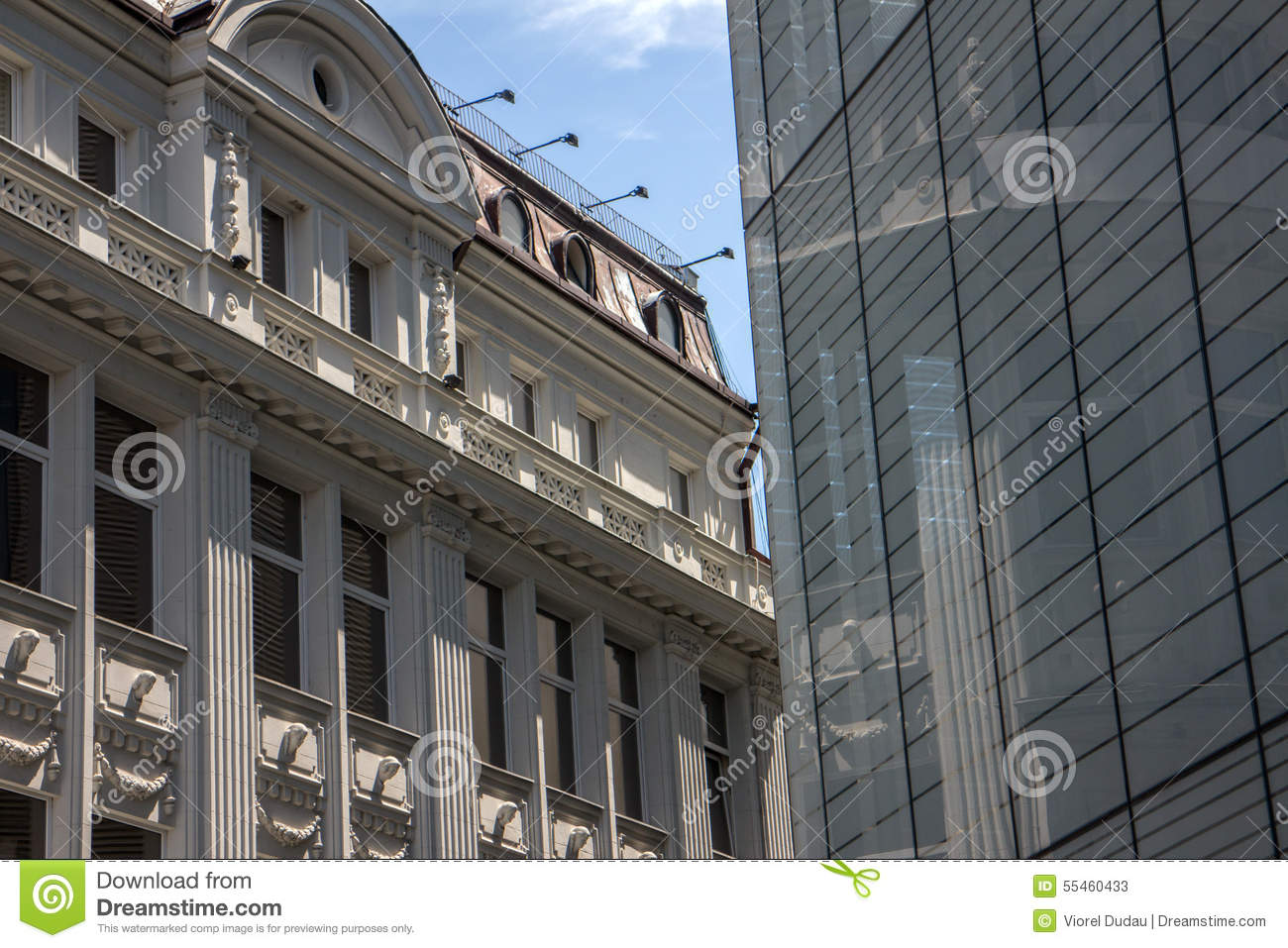 Old and new office buildings stock photo image 55460433 for New modern architecture