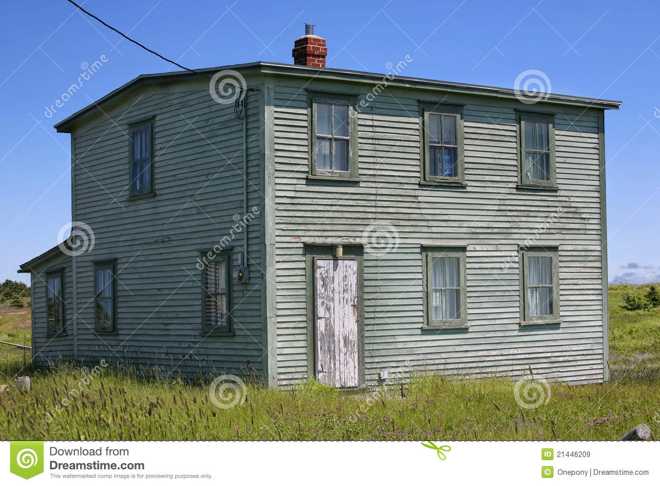 Old newfoundland house royalty free stock images image for Home plans newfoundland