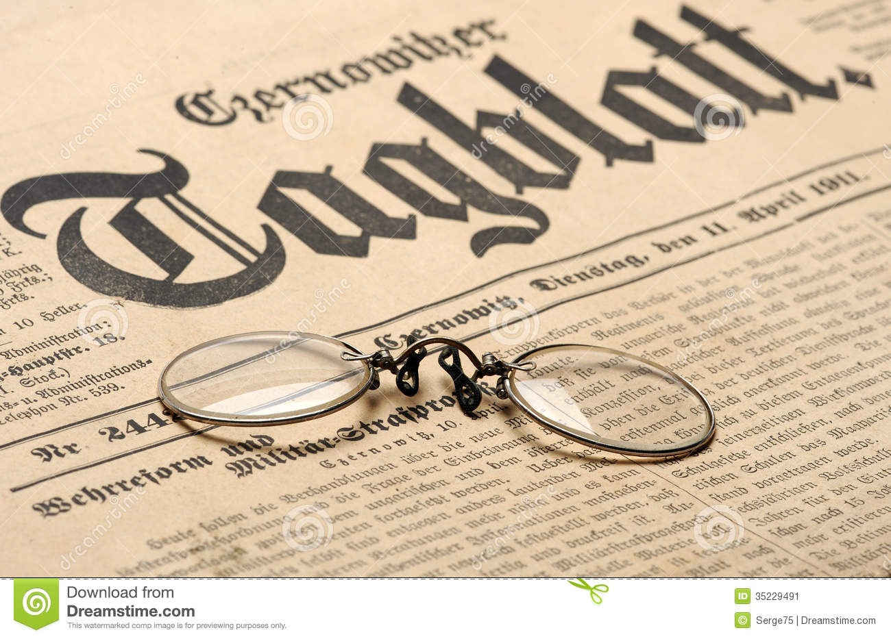 Old Newspaper Background Stock Image - Image: 35229491