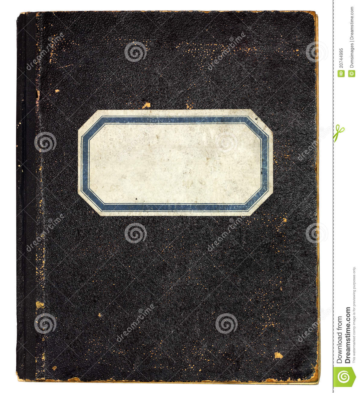 House Front Design: Old Notebook Cover Royalty Free Stock Photo
