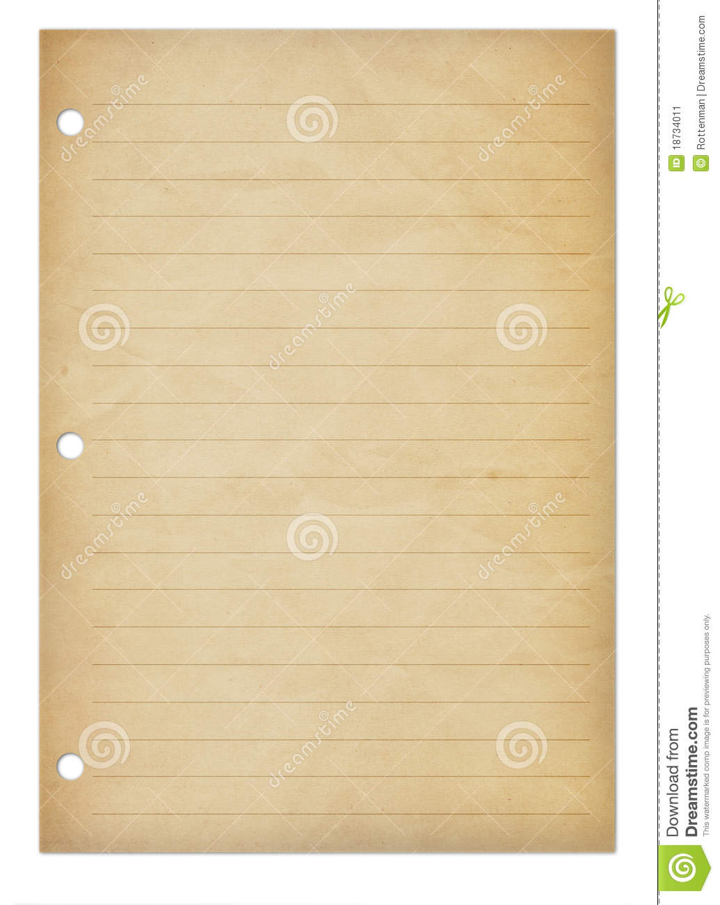 Old Notepad Page Stock Image