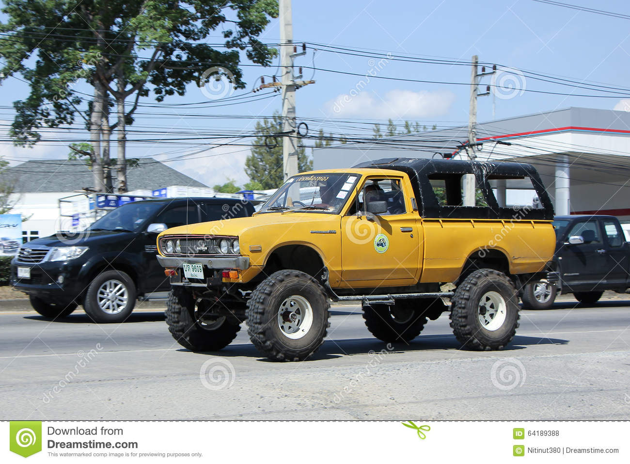 Old Off Road Car. Datsan Pickup. Editorial Stock Photo - Image of ...