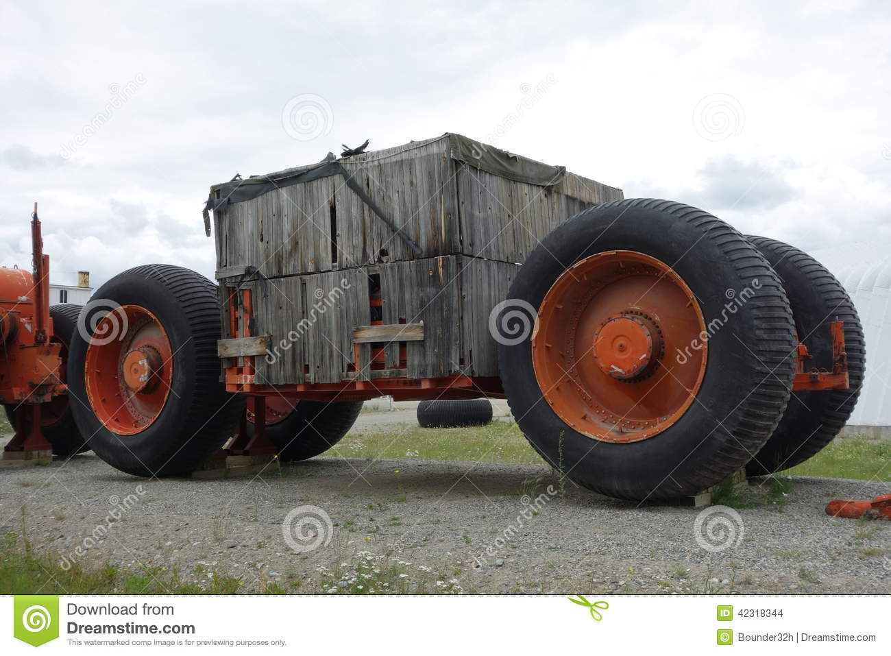 Tundra Off Road >> An Old Off-road Trailer With Tundra Tires. Stock Photo - Image: 42318344