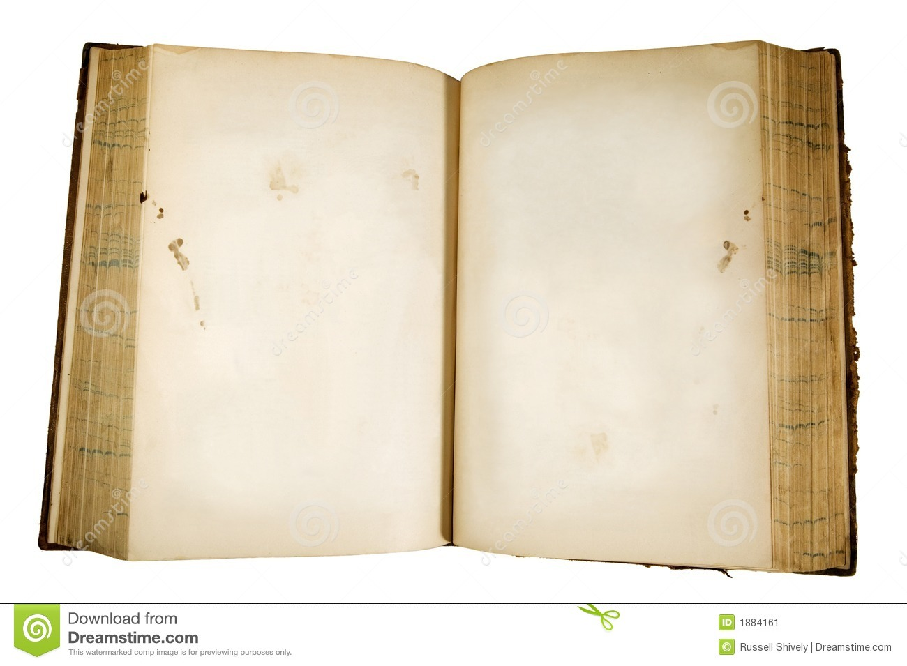 Old Open Book Stock Image - Image: 1884161