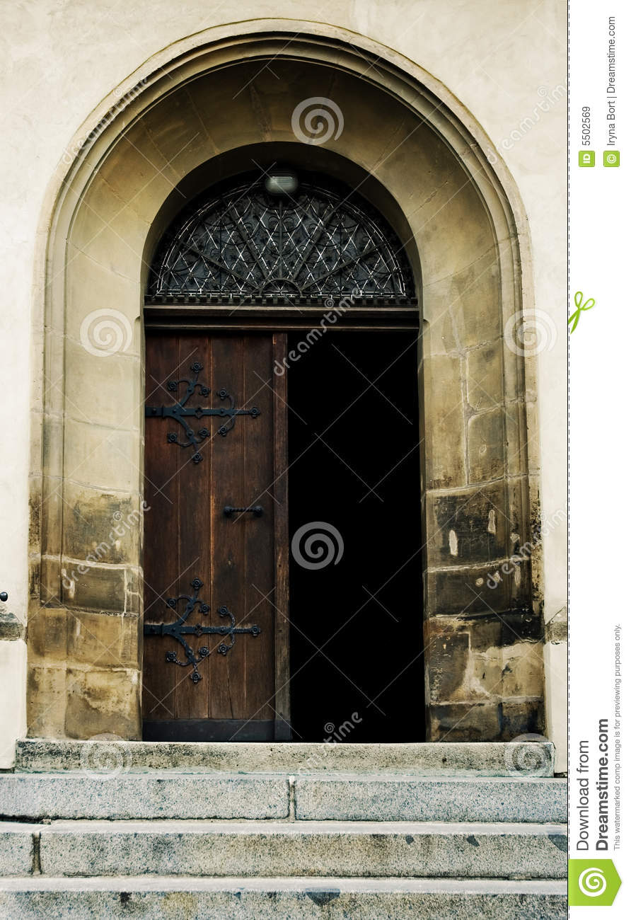 Old Open Door Stock Image Image Of Rock Antique Gate