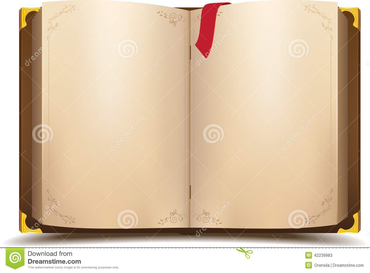 Old open magic book stock vector. Image of paper, literary