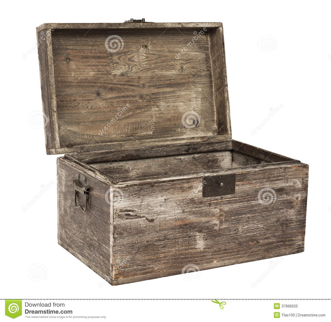 Old Open Wooden Chest Stock Image Image Of Secrecy Trunk