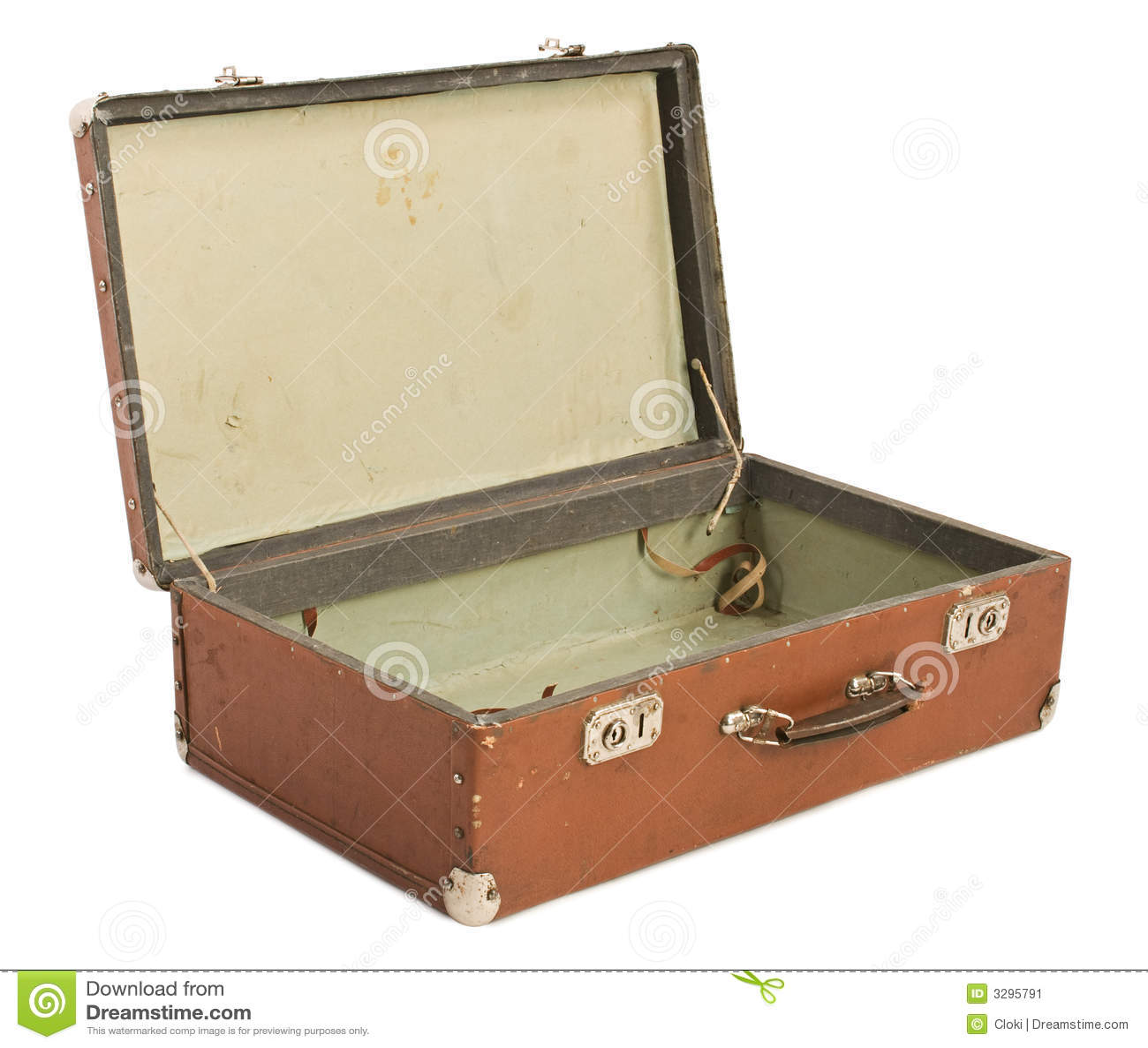 Old opened suitcase stock image image of ticket mark 3295791 - Valise en carton vintage ...