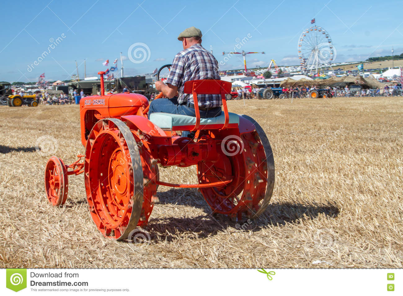 Old Orange Allis Chalmers Tractor At Show Download Preview