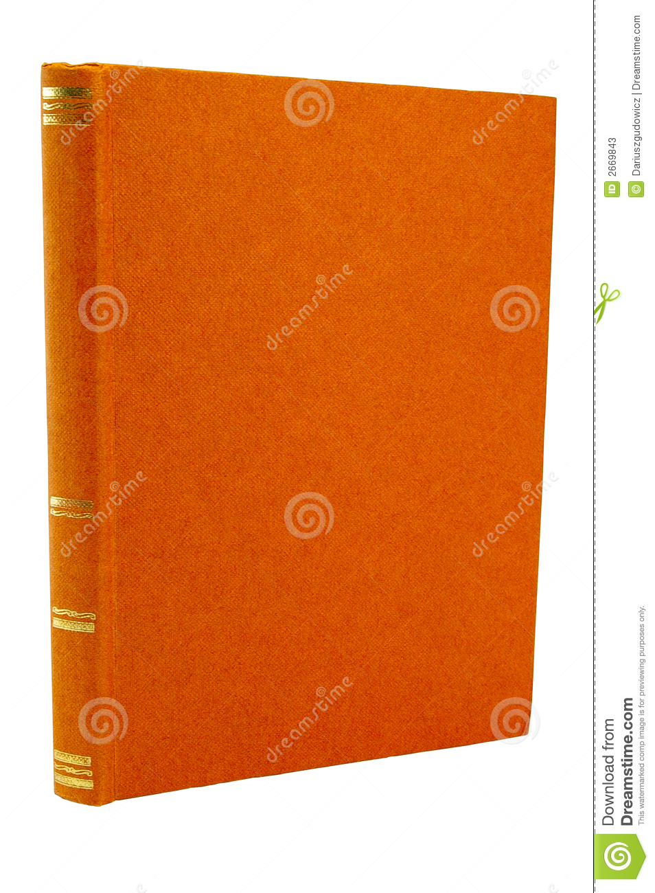 Book Cover Stock Photography : Old orange book cover stock image of paper