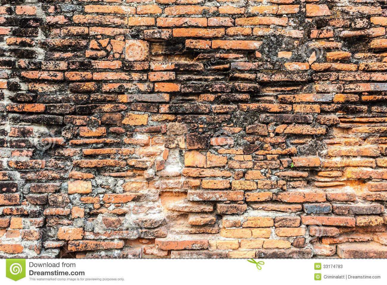 Old orange brick wall stock image image of orange for Wall surface texture