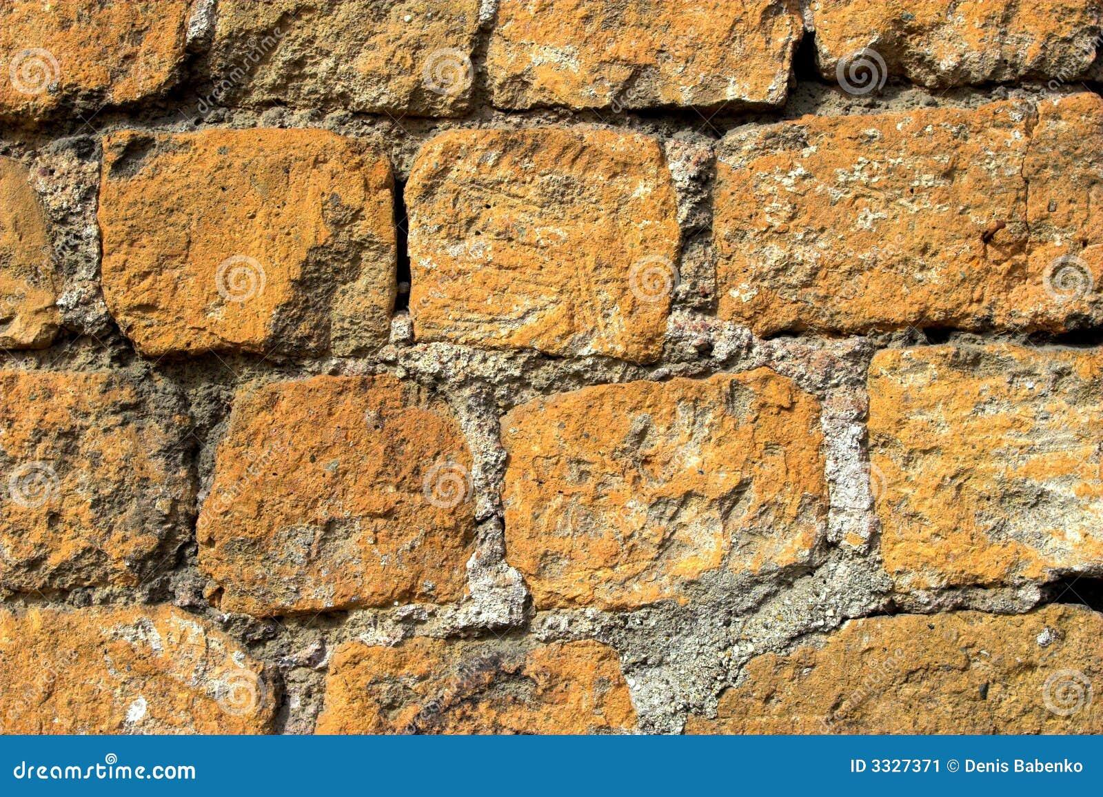 Old orange and grey brick wall