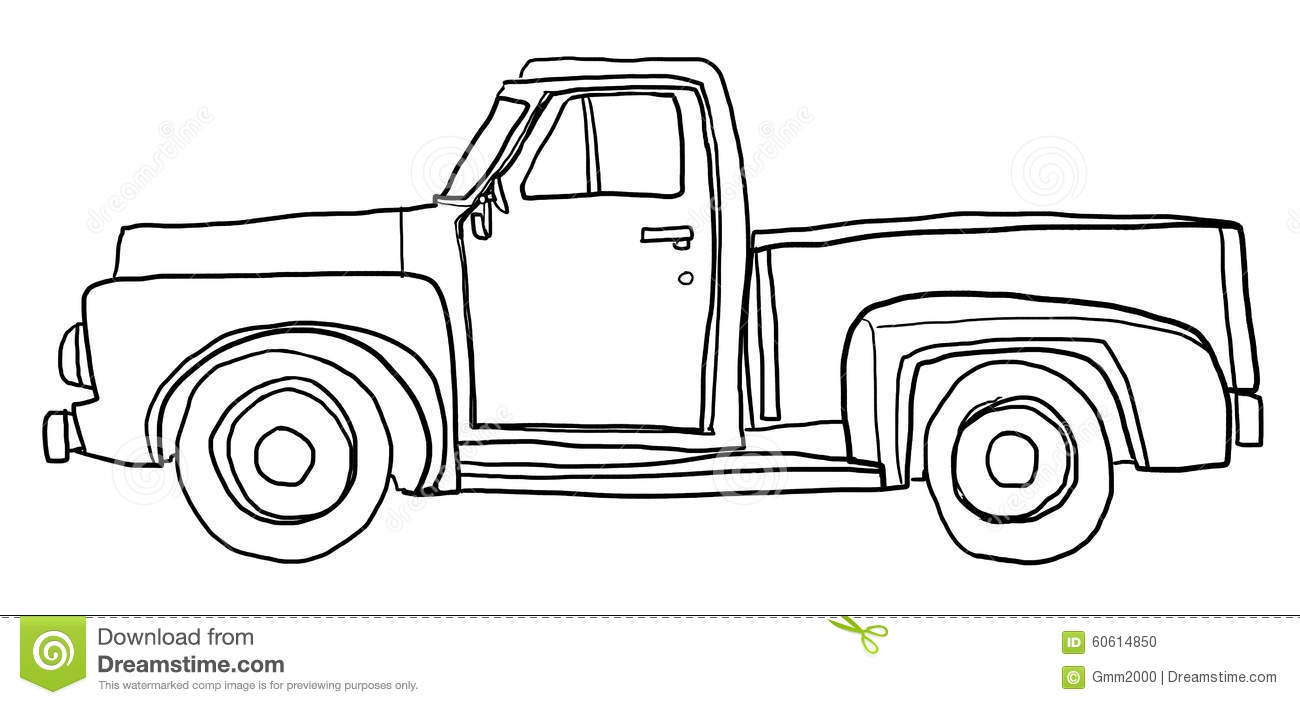 Line Art Truck : Pics for gt pick up truck line art