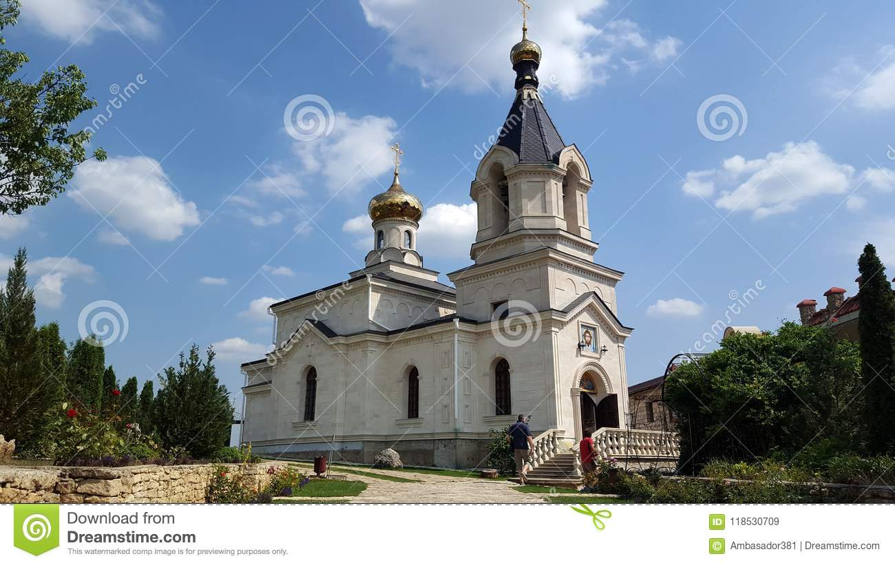 Old Orhei monastery on Raut river in Moldova