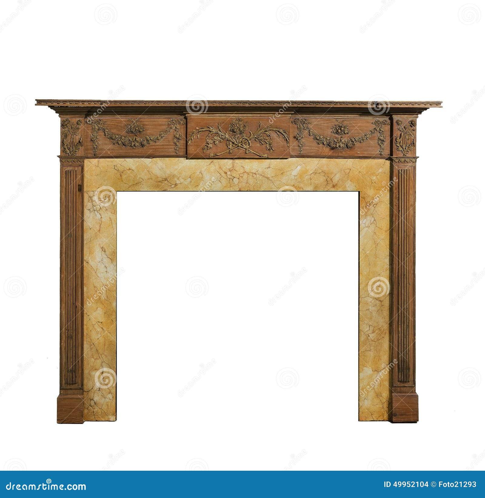 old original adams style pine fire surround stock photo image