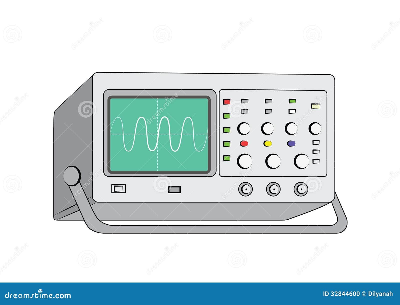 Old Oscilloscope3 Stock Vector Illustration Of Display