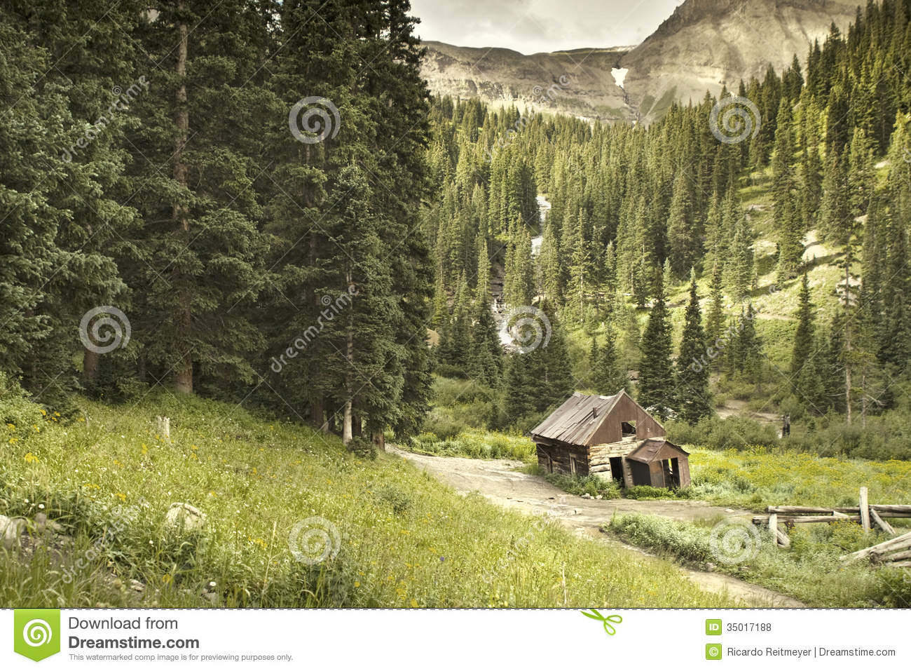 Old Ouray Colorado Mining Cabin Stock Photo Image 35017188
