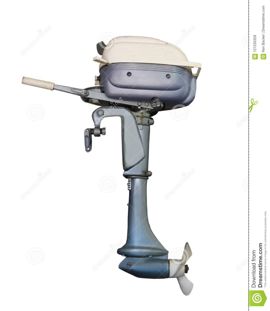 Old Outboard Motor For A Boat Isolated  Stock Image - Image of boat