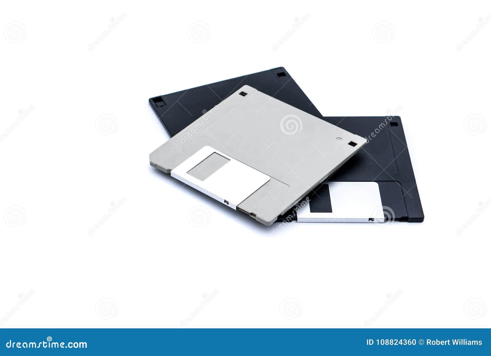 Old outdated floppy disks for older computer system.