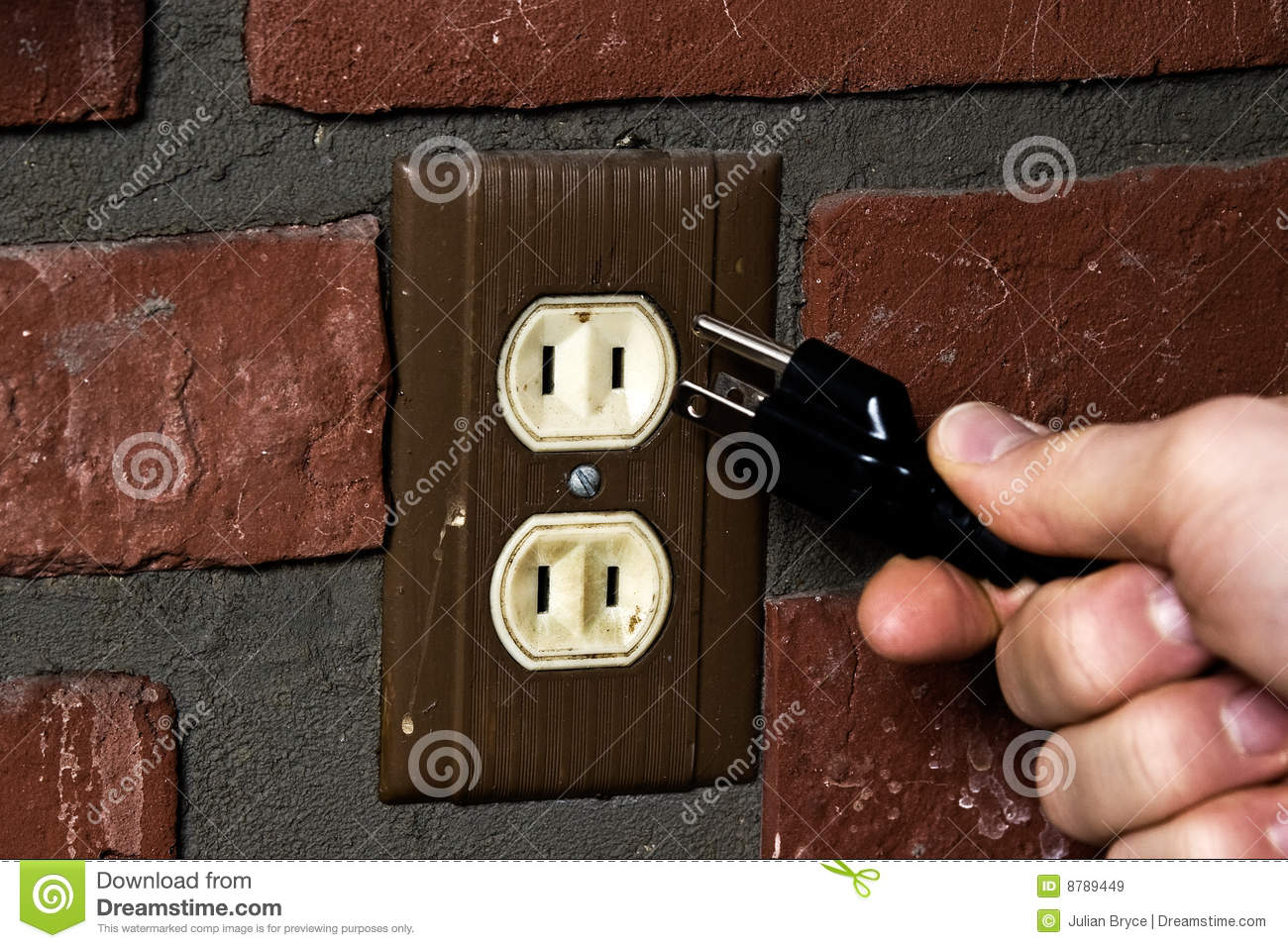 Old Outlet And New Plug Stock Image Of Wall Cable 8789449 2 Prong Vs 3 Outlets Confused Person Working With A