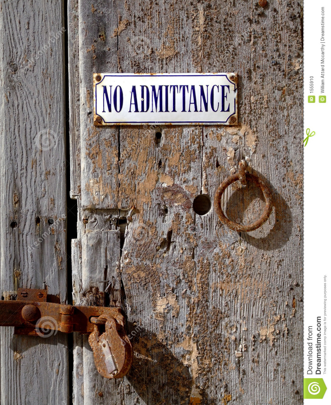 Download Old Padlocked Door stock photo. Image of wooden, entry - 1555910