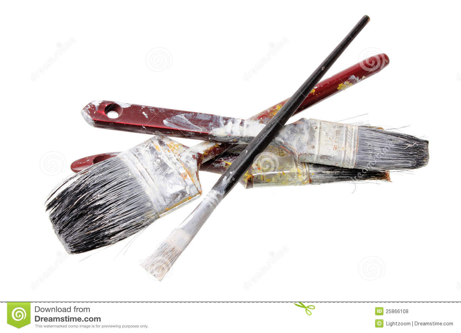 Old Paint Brushes Royalty Free Stock Photos - Image: 25866108: dreamstime.com/royalty-free-stock-photos-old-paint-brushes...