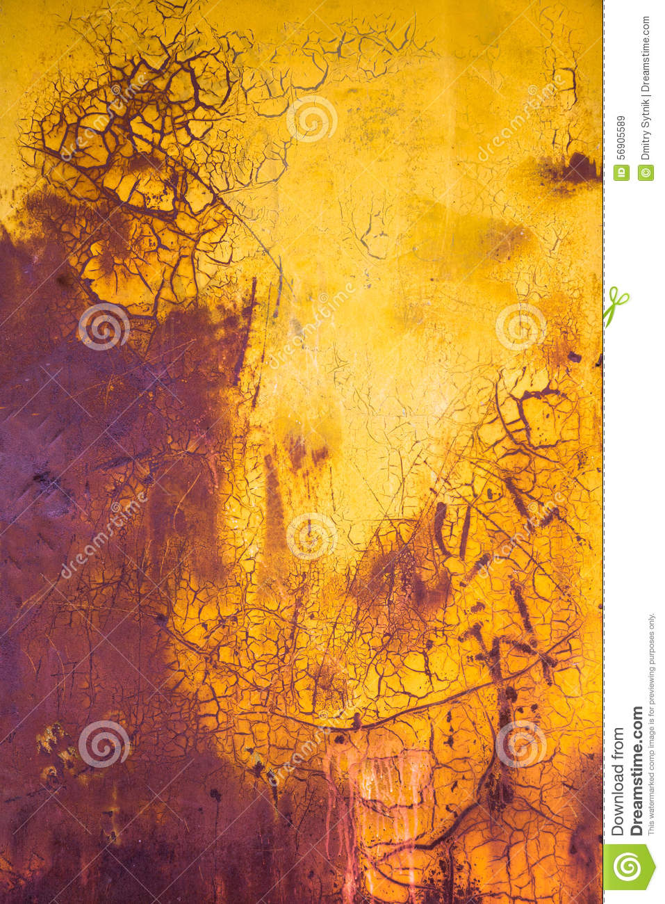 Old paint vertical background yellow and purple stock for Purple and yellow painting