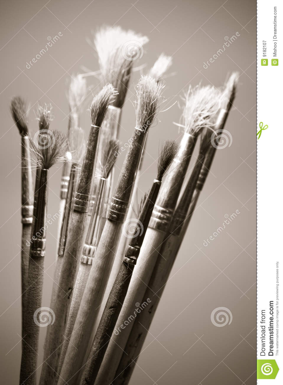 paint brushes photography black and white. royaltyfree stock photo download old paintbrushes paint brushes photography black and white b