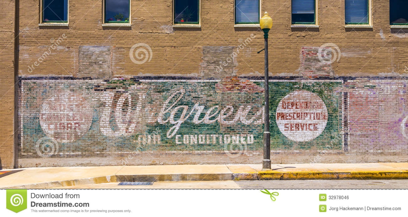 Old Painted Advertising At The Wall Editorial Photo - Image: 32978046