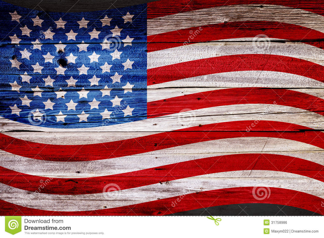 Old Painted American Flag Royalty Free Stock Image - Image ...