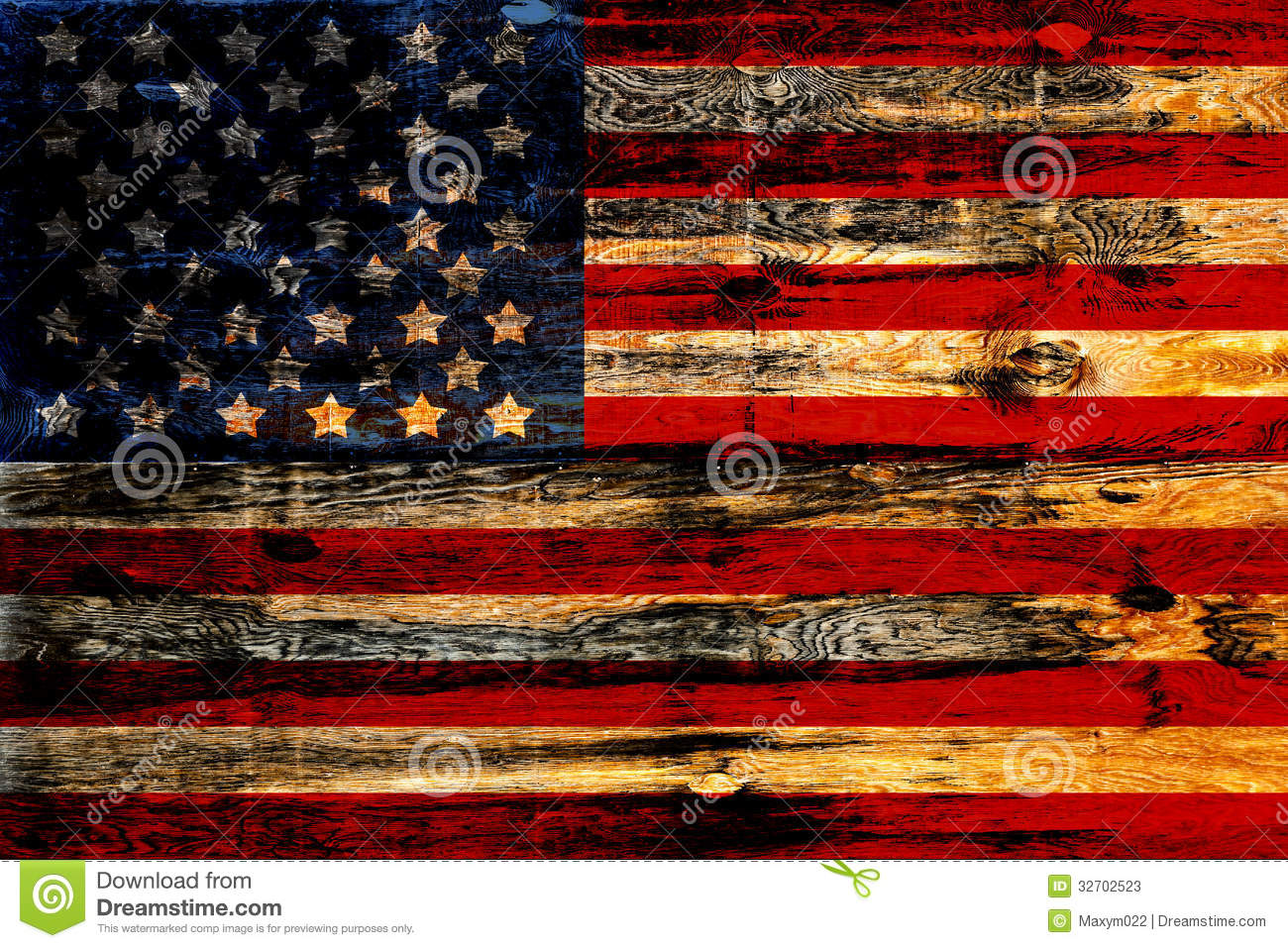Old Painted American Flag stock image. Image of american - 32702523