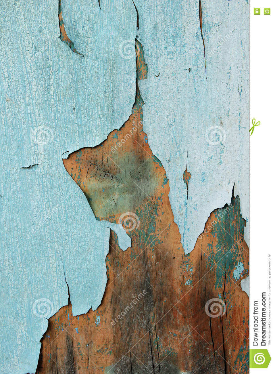 Old Painted Cracky Blue Wooden Texture Vintage Rustic Style