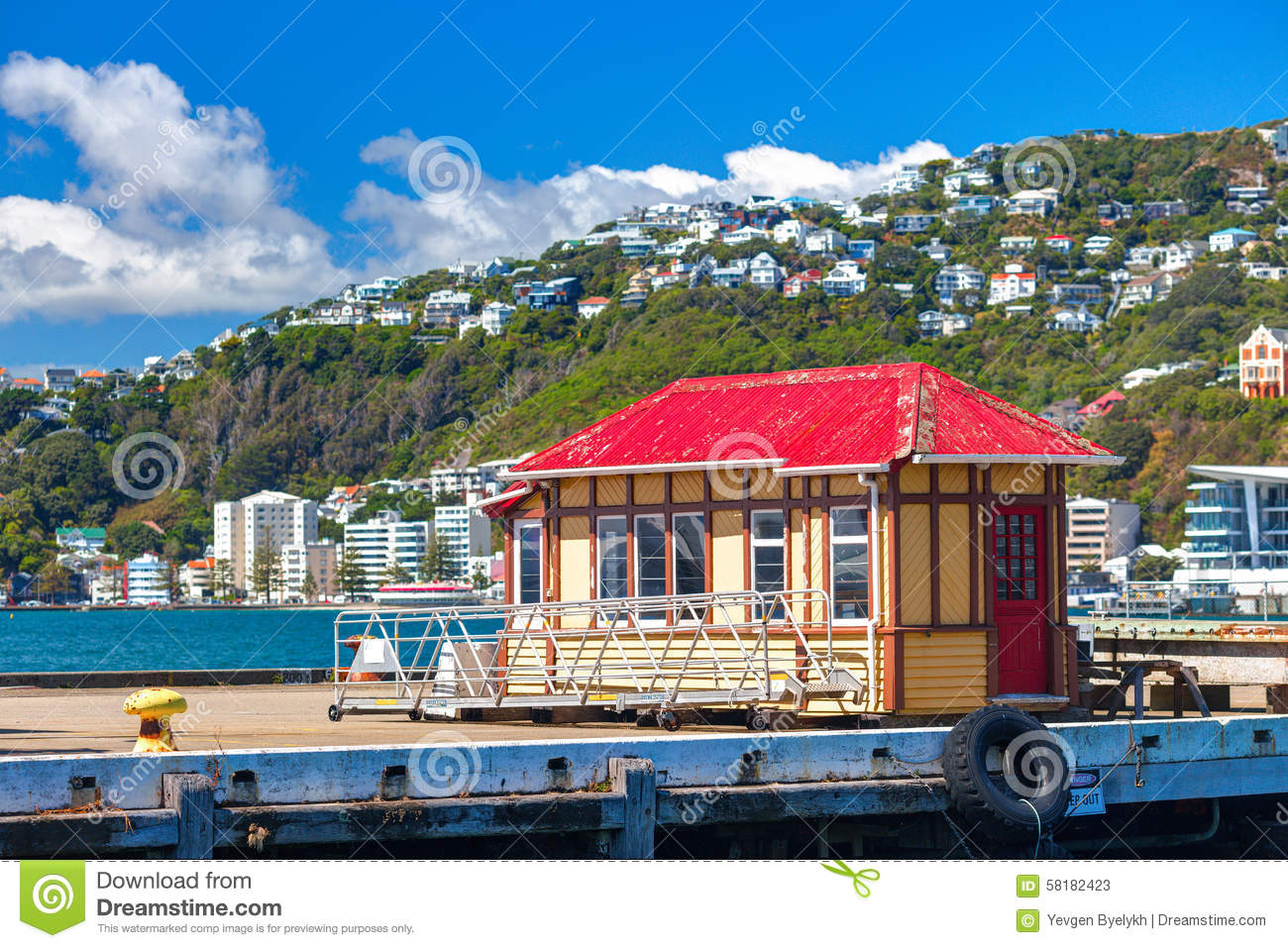 Old painted house shack at the pier jervois quay boat for Shack homes
