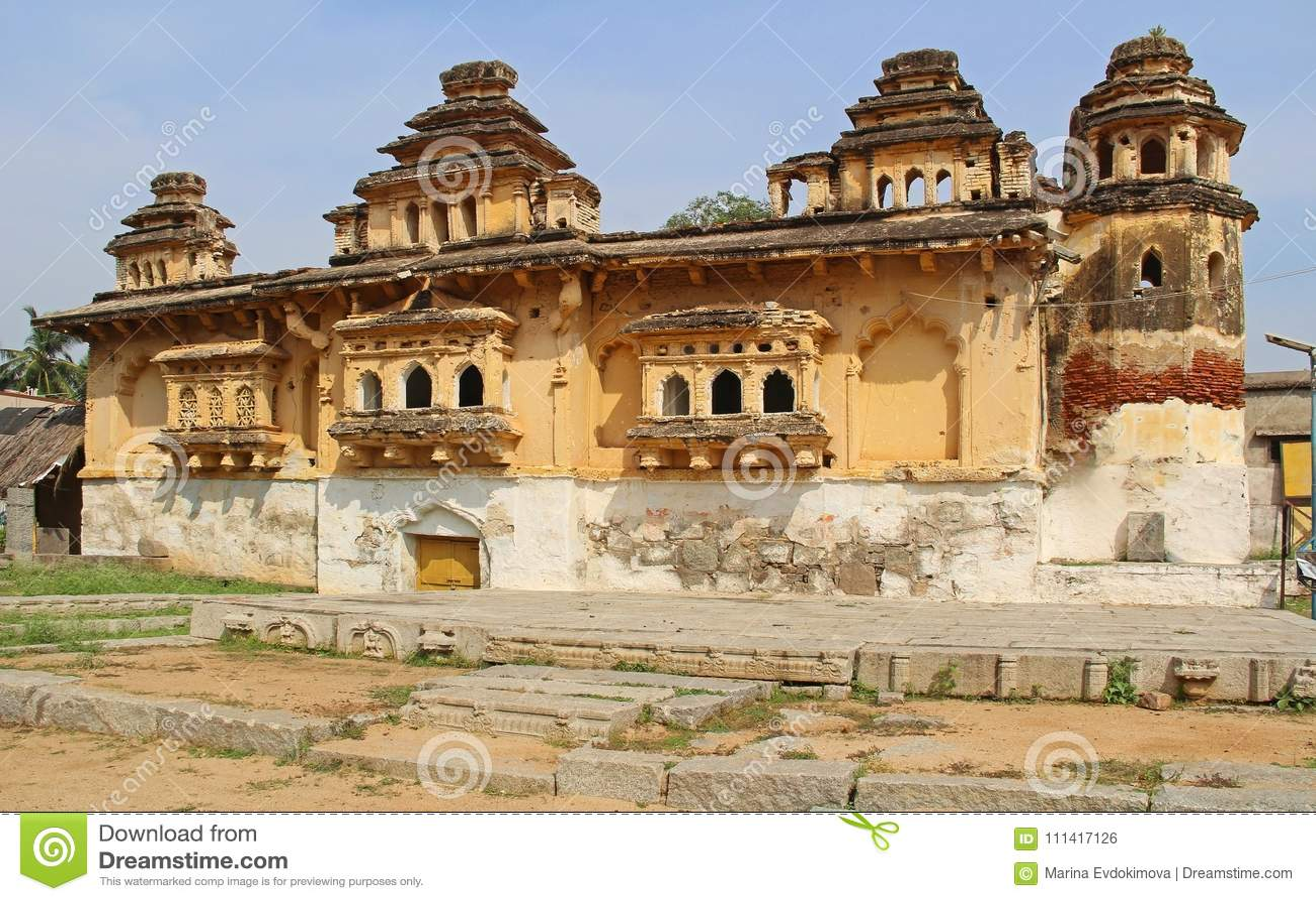 Old Palace Gagan Mahal in Anegundi in Hampi, Karnataka, India.